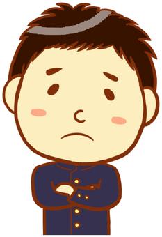 School run (troubled face)