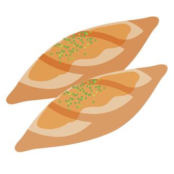 French bread garlic France