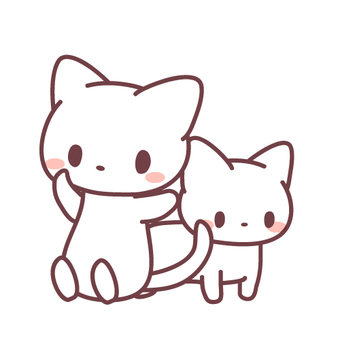 Illustrations of 2 cats