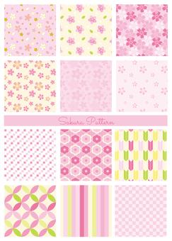 ピンクのパターンセット