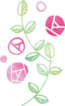 Soft rose illustration 2