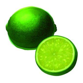 Green lemon, cut