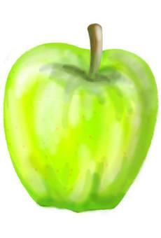 Green apple fruits autumn