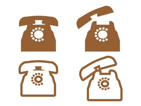 Classic phone icon 08