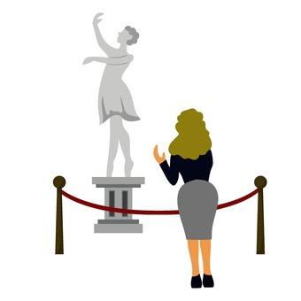Ballerina statue