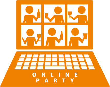 Online drinking party, video chat,