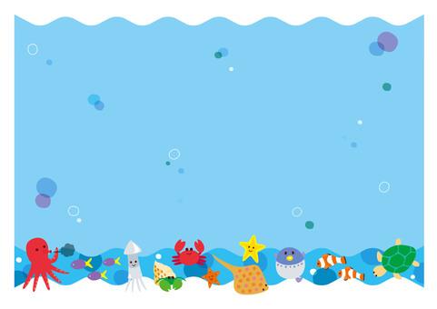 Background frame ocean