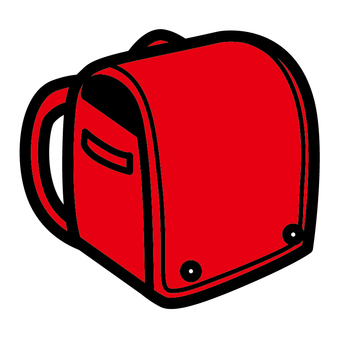 Red school bag simple bold line