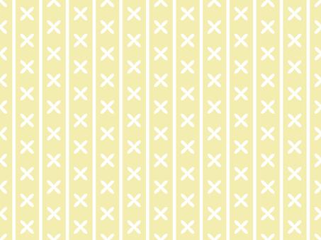 Vertical stripes cross (yellow)