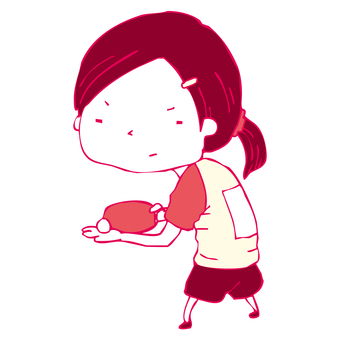 Table tennis girl