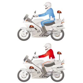 자전거 측면 오토바이