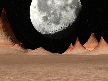 惑星から見た月の景色