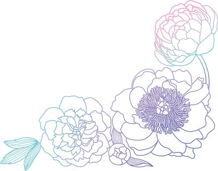 Flower decoration peony 1