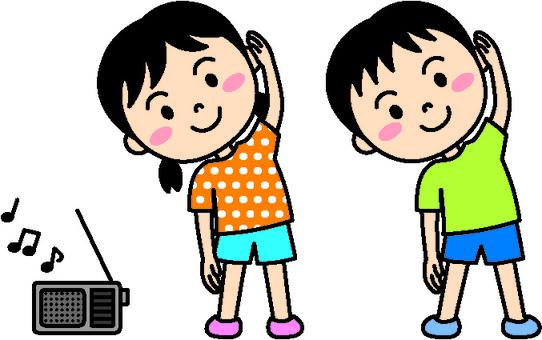 Summer child (radio gymnastics color)