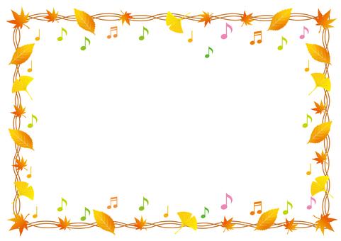 낙엽과 음표의 프레임
