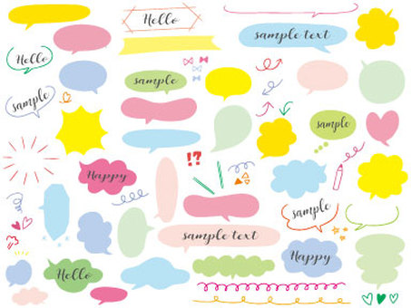 Handwritten speech balloon color 02