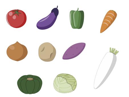 野菜一覧イラスト