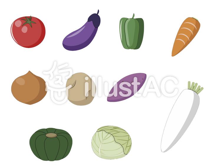 野菜一覧イラストのイラスト