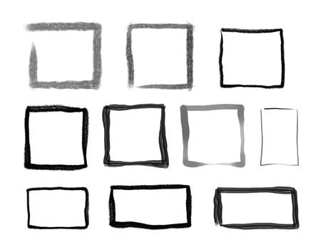 Brush-style square frame set