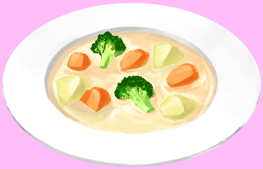 Cream stew without outline