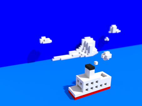 Cg illustration of ship
