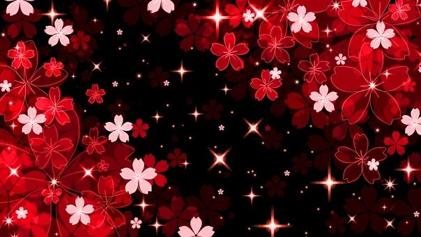 Light up style night cherry tree (red)