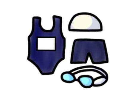 스쿨 수영복 세트