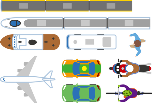 교통 아이콘 표시 윗면 색상