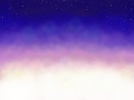 Magic hour night sky watercolor texture