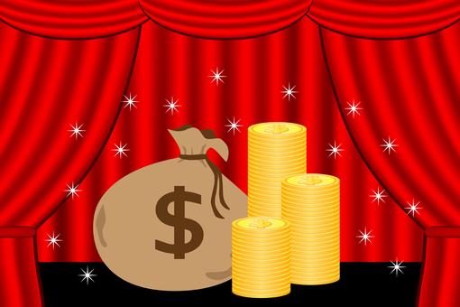 US dollar on stage
