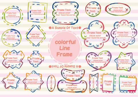 Colorful line frame set