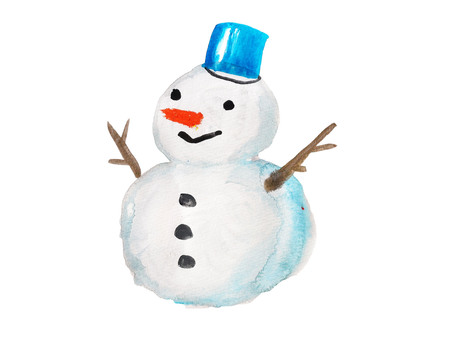 Hand-painted snowman