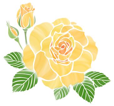노란 장미 한송이 봉오리