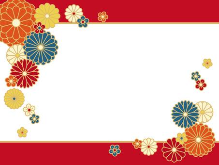 Japanese style frame material <Chrysanthemum pattern>