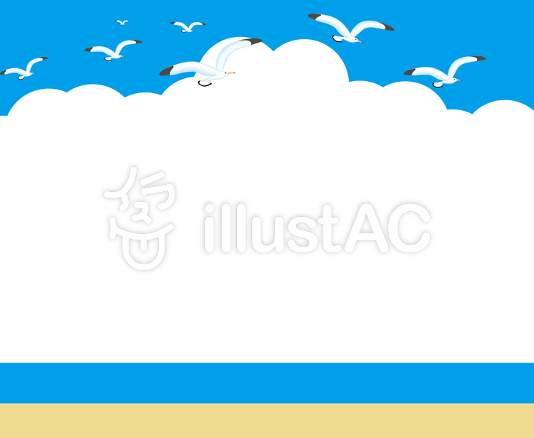 海 かもめイラスト No 445236無料イラストならイラストac