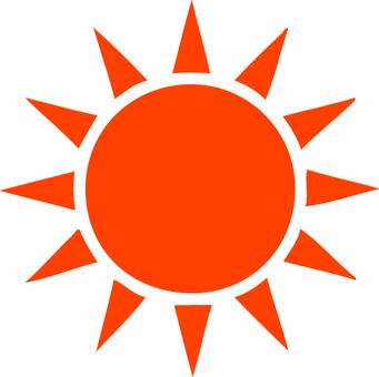 Simple sun mark