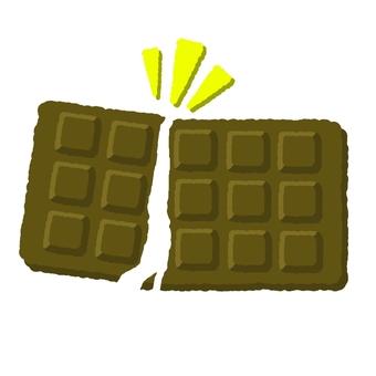 Broken plate chocolate ②