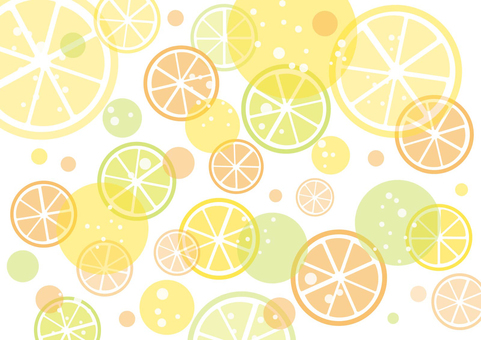 Simple citrus background material