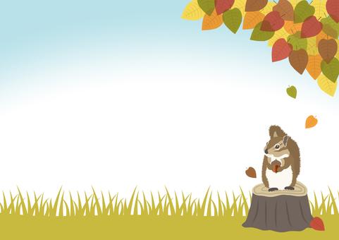 가을의 가로 배경 소재 2