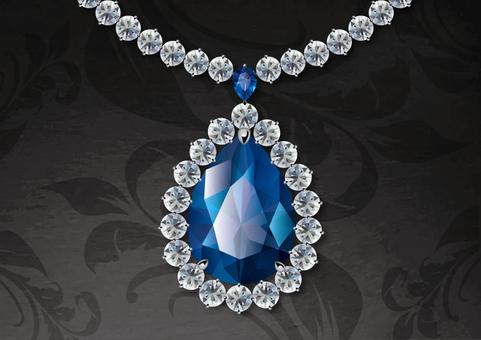 Sapphire pair shape pendant