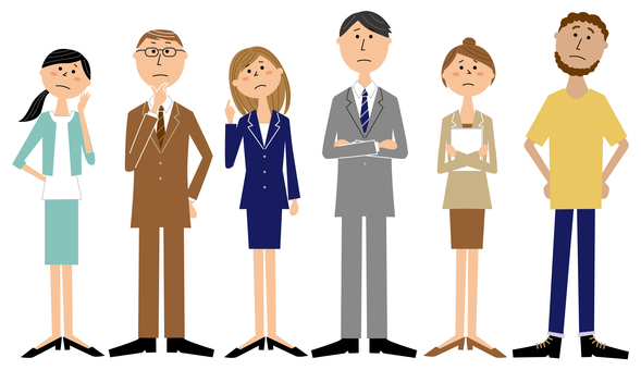 6 business people