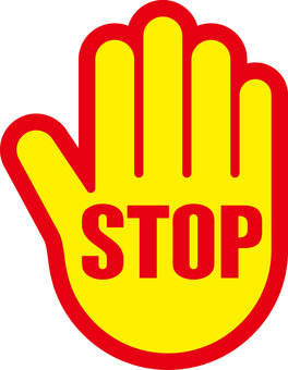 Hand _ Stop _ Sign _ 02 _ Yellow _ Red