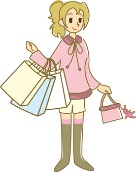 Woman shopping (feminine)
