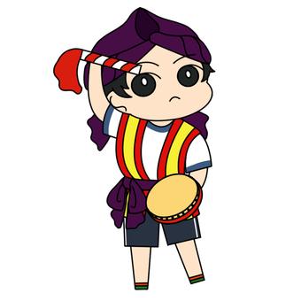 エイサーを踊る子_02