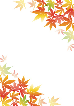 Autumn leaves _ background _ vertical