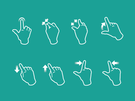 Hand, finger, gesture to operate smartphone 03