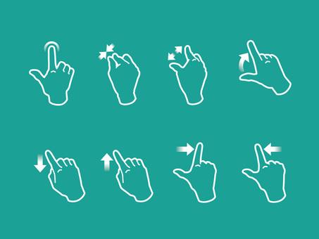 手,手指,操作智能手機的手勢03