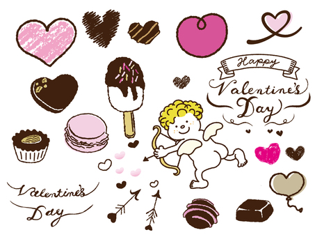 Hand-painted Valentine Material