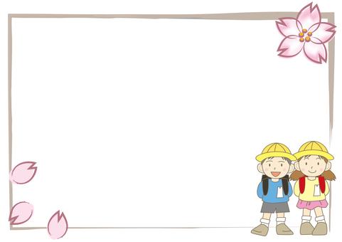 Cherry Blossoms Frame / Child B