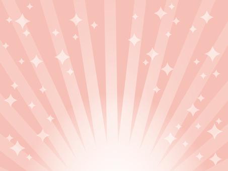 集中線、放射状背景 ピンク